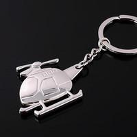 çinko zincir gemisi toptan satış-DHL ücretsiz kargo yaratıcı helikopter anahtarlık metal anahtarlık çinko alaşım unisex uçak anahtarlık wen5863