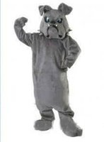 trajes do dia das bruxas fazem para adultos venda por atacado-Menor Preço Feito Sob Encomenda Bulldog Spike Mascot adulto traje da mascote de pelúcia personagem de banda desenhada trajes para o partido do dia das bruxas terno