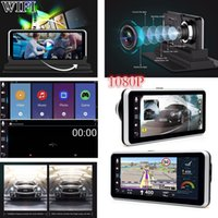 Wholesale chinese gps navigation for sale - Group buy WIFI HD P quot GPS Navigation Android Car DVR Dual Lens Camera Recorder FM