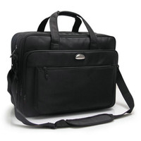 ingrosso tote solido nero-Fashion 17 pollici NotComputer Laptop Handbag per uomo donna Solid Black Briefcase Bags
