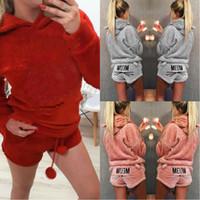 pyjamas chauds pour femmes achat en gros de-Cute Girl Women Pyjama Ensembles Automne Hiver Flanelle Dessin Animé chat Dames Sous-Vêtements De Nuit Chaud Épais Pyjama Set PJS
