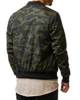 chaquetas militares de época al por mayor-Chaqueta militar Cool Army Chaqueta de camuflaje Chaqueta casual para hombre Chaquetas de hombre de alta calidad Abrigos masculinos Abrigo Plus Size M-4XL Vintage