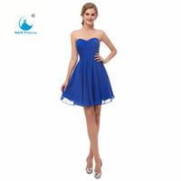 Vestido corto para fiesta azul