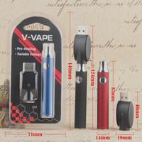 abd'de satılan piller toptan satış-Elektronik sigara 650 mah ön ısıtma pil değişken voltaj için kalın yağ cam kartuş g2 92a3 510 2018 abd'de sıcak satış OEM çin