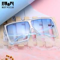 neue brillenweinlese großhandel-New Square Oversized Sonnenbrille für Frauen Mode Sonnenbrille Dame Marke Designer Vintage Shades Gafas Oculos de sol UV400