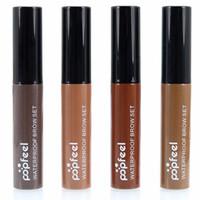 Wholesale peel kit - Popfeel Waterproof long lasting Eyebrow Enhancer Makeup kits Eye Tint easy Peel Off Ey Brow Gel Make Up 4 Colors Tattoo Gel