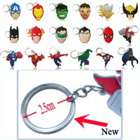 Wholesale Bright Keychains - Wholesale Order Cool Avenger Hero Figure High Quality Bright Color Cartoon PVC Keychain Key Ring Bag Cute Accessory Kawaii Party Favor