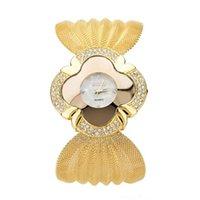 bracelete relógio espelho venda por atacado-Venda quente Fabulous Lady Diamond Bracelet Watch Espelho Luxo Quartz Watch Drop Shipping