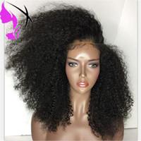 cheveux long noir rouge achat en gros de-180densité Long Noir / Rouge / Brun Couleurs Dentelle Perruque de Cheveux Afro Crépus Bouclés Synthétique Dentelle Avant Perruques Pour Les Femmes Noires