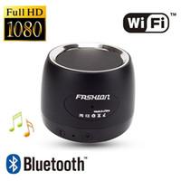 mp3 player dvr venda por atacado-Wi-fi mini Câmera IP Bluetooth Speaker câmera P2P FULL HD 1080 P MP3 Player de Música MINI DVR DVR Câmera de Segurança de Vigilância Sem Fio