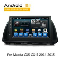 Wholesale mazda android car dvd player resale online - 10 Inch Din Car Multimedia Radio Systems for Mazda CX CAR DVD GPS Glonass Navigation Android Quad Core