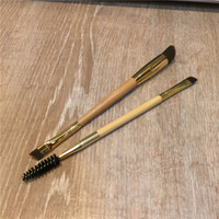 ingrosso crema di bambù-TT-Series Bamboo Frame lavoro doppio sopracciglio pennello sopracciglia - Capelli sintetici per Powder Cream Prodcuts- Beauty makeup brush Blender