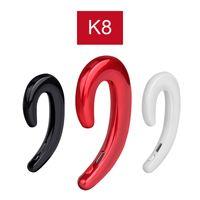 bouchons d'oreilles écouteurs sans fil achat en gros de-K8 Bluetooth Casque Sans Fil Écouteurs Stéréo Crochet D'oreille Universel Mini Téléphone Casque Pas De Bouchons D'oreille De Voiture Mains Libres De Voiture Mic pour iPhone Xiaomi