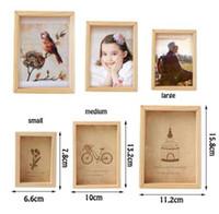 ingrosso decorazione di cerimonia nuziale dell'annata diy-Famiglia Vintage Multi Photo Frame Online Home Decor Art Legno Matrimonio Mini Cornici Vintage Famiglia FAI DA TE Cornice Home Decor