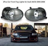 farol de nevoeiro led para audi venda por atacado-Um par de luzes de nevoeiro da frente do carro levou lâmpada para audi a6 c6 2005-2008 4f094170