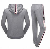 Wholesale Black Par - 2018 tiger Young male sports suit Brand Men's Jacket par Hoodies Sweaters casual hooded sweater suit men sport suit