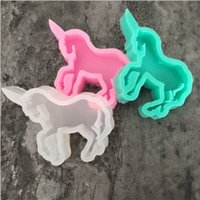 Wholesale sugarcraft cutters resale online - Horse Unicorn Series Cake Cookie Mold Cutter Silicone Fondant Baking Tool Birthday Biscuit Sugarcraft Chocolates Printing Ebosser dy Y