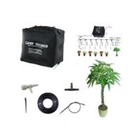 ingrosso balcone bonsai-40L Home Micro sistema di irrigazione Balcone Bonsai Fiore di irrigazione a goccia Kit di irrigazione autofrenante per 8 vasi di fiori 50 giorni