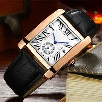 Wholesale geneva double watch - New Geneva fashion business simple men's leather strap double dial top luxury brand men's quartz fashion men's watch Montres FemmesNe AAA