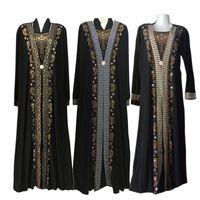 moda müslüman elbise toptan satış-Moda Arap Müslüman Abaya Elbise Kadınlar için İslami Giyim Dubai Kaftan Abaya Elbise Türk Müslüman Elbiseler Mütevazı Abaya Elbiseler