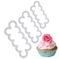 flor de rosa fondant cortadores al por mayor-3 unids Cake Gumpaste Sugarcraft más fácil Rose Ever cortador Cookie Cutter Fondant herramienta de decoración Sugarcraft Rose Flower Mold
