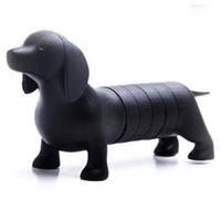 Wholesale plastic divided resale online - Dachshund Fridge Black Color Can Divide Into Six Sausage Botton Magnet