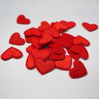 patchs de repassage achat en gros de-Mayitr 10pcs Amour Coeur Rouge Fer Sur Patch Couture À Coudre Sur Appliqué Patch Vêtement Autocollants DIY Vêtements Accessoires