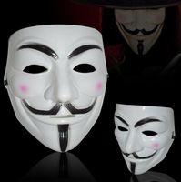 maskeli parti süslemeleri toptan satış-Vendetta Anonim Için V Maske Masquerade Maskeleri Sevgililer Top Parti Dekorasyon Tam Yüz Cadılar Bayramı Süper Korkunç Guy Fawkes