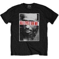 camisas de remo venda por atacado-Tupac Shakur 2Pac Todos Eyez Em Mim Rap Death Row Oficial Tee T-Shirt Dos Homens UnisexClassic Qualidade alta t-shirt