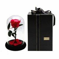 импортные розы оптовых-Маленький принц стеклянная крышка свежий сохранившийся цветок розы импорт RoseAMor бессмертные красочные розы для девушки День Святого Валентина свадьба лучший подарок