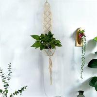 Wholesale Cotton Hangers - Plants Hanger Basket Handmade Bohemia Organization Simple Wall Decorate Flowerpot Cotton Thread Decoration Pendant Soft Feel 13 5jj V