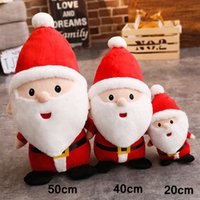Wholesale wholesale kids holiday toys for sale - 20cm inch Merry Christmas Plush Doll Stuffed Santa Claus Model Dolls Novelty Toys Kids Holiday Gift Xmas Ornament Home Decoration AAA1250