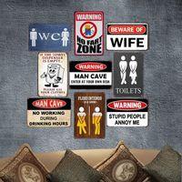 engraçado parede sinais venda por atacado-Sinal Engraçado do vintage Placa de Arte Pintura Da Lata Sinal Bar Pub Cafe Garagem Hotel Casa Decoração Da Parede de Metal Poster Y18102409