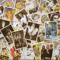 invitación de halloween vintage al por mayor-32 unids / lote Retro Tarjeta Postal de Dibujos Animados Vintage Arquitectura Cartel Película Clásica de la Segunda Guerra Mundial Colección de Postales Tarjeta de felicitación