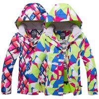 combinaison de ski verte achat en gros de-2018 WELIVENICE Hiver Neige Ski Veste Combinaison De Ski Vêtements De Neige Coupe-Vent Imperméable Rose / Vêtements Vert Snowboard