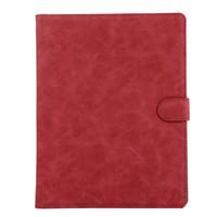 красный кожаный ipad чехол оптовых-Подходит для ipad4 / 3/2 защитный кожаный чехол, расширенный старинный материал и общежитие обложка красный