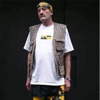 camisas amarelas para moda masculina venda por atacado-17FW Brooklyn Store manga Curta Limitada Amarelo-Verde Camuflagem Caixa Log0 T Camisa Moda Homens E Mulheres Casal High Street Tee HFYTTS037