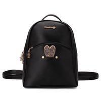 Wholesale stylish boys dress - Backpacks Women Custom Stylish cartoon Bags Bunny Kid's School Bag For Boys Girls Black Leather Backpack for Girls Schoolbag