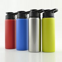 Wholesale Bpa Free Travel Water Bottle - Wholesale- 700ml Bpa Free Best Stainless Steel Water Bottle Sports Water Bottle for Bike Bicycle Cycling Running Gym Hot Cold Drink Bottles
