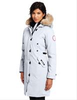 ingrosso giacche invernali cappotto di oca-Piumino donna GOOSE Down Warm Outdoor Sports 90% bianco Donna Cappotto invernale da sci invernale da donna di alta qualità