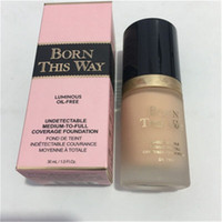 Wholesale Foundation Coverage - NEW Makeup Born This Way COVERAGE Foundation Liquid 3 color 30ML DHL shipping+GIFT
