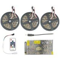 kit de ruban de couleur achat en gros de-5050 60led / m LED RGB Bande de lampe de bande de lampe WS2811 IC Bande de ruban flexible de couleur de rêve 5m 10m 15m 20m 25m Kit IP67 étanche IP20