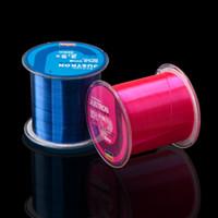 medidor de ángulo al por mayor-500 metros de línea de pesca Raw Silk Wear Resistente Nylon Monofilamento Líneas de pesca Súper fuerte Pull Thread Multi Color 6yk WW