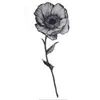 ba7acae5b One Flower Waterproof Temporary Tattoos Sticker Henna Tatoo Body Art Miss Rose  Fake Tattoo The Flash For Woman Men Ganesha