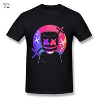modisches designhemd großhandel-Modische Männer marshmello T-Shirt Komfortables T-Shirt Schönes T-Shirt Top-Design T-Shirt Nice Kurzarm