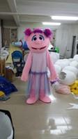 bonecas extravagantes venda por atacado-2018 venda Quente rosa Fada menina boneca Fancy Dress Adulto Animal Mascot Costume frete grátis