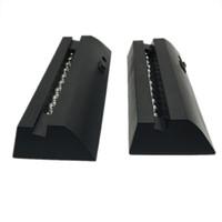 lampara blanca negra al por mayor-Base LED negra de 17 mm de largo para 10 mm placas de cristal acrílico desvanecimiento de luz blanca luces RGB mesa de novedad lámpara 3D al por mayor