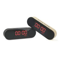 Wholesale Wireless Bluetooth Speaker led Display Clock Music Alarm Card FM Radio Portable home video