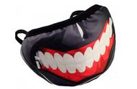 kaliteli deri maskeler toptan satış-Korku 10 adet Yüksek Kalite Gümrükleme Tokyo Ghoul 2 Kaneki Ken Maske Maskeleri Pu Deri Serin Maske Blinder Anime Cosplay