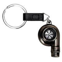 keychain klingt großhandel-Turbine Key Chain Ring Hochwertige Real Whistle Sound Auto Teil Modell Schlüsselring Turbolader Schlüsselanhänger Metall Auto Turbo Schlüsselbund